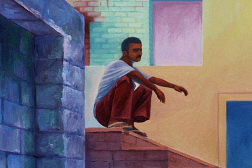 Delhi man oil on canvas