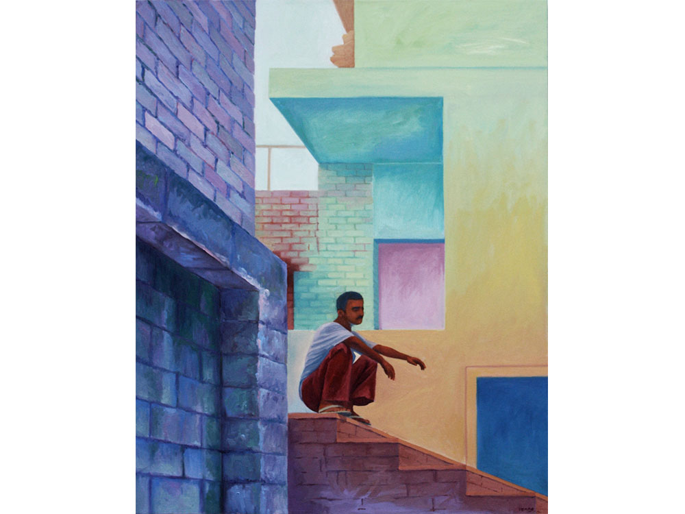 Delhi man oil on canvas