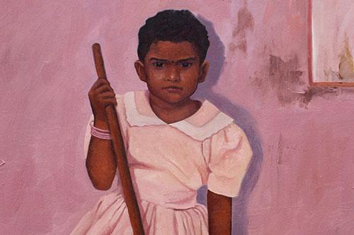 kerela girl: oil on canvas