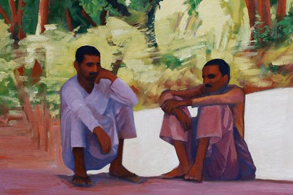 Companions: oil on canvas