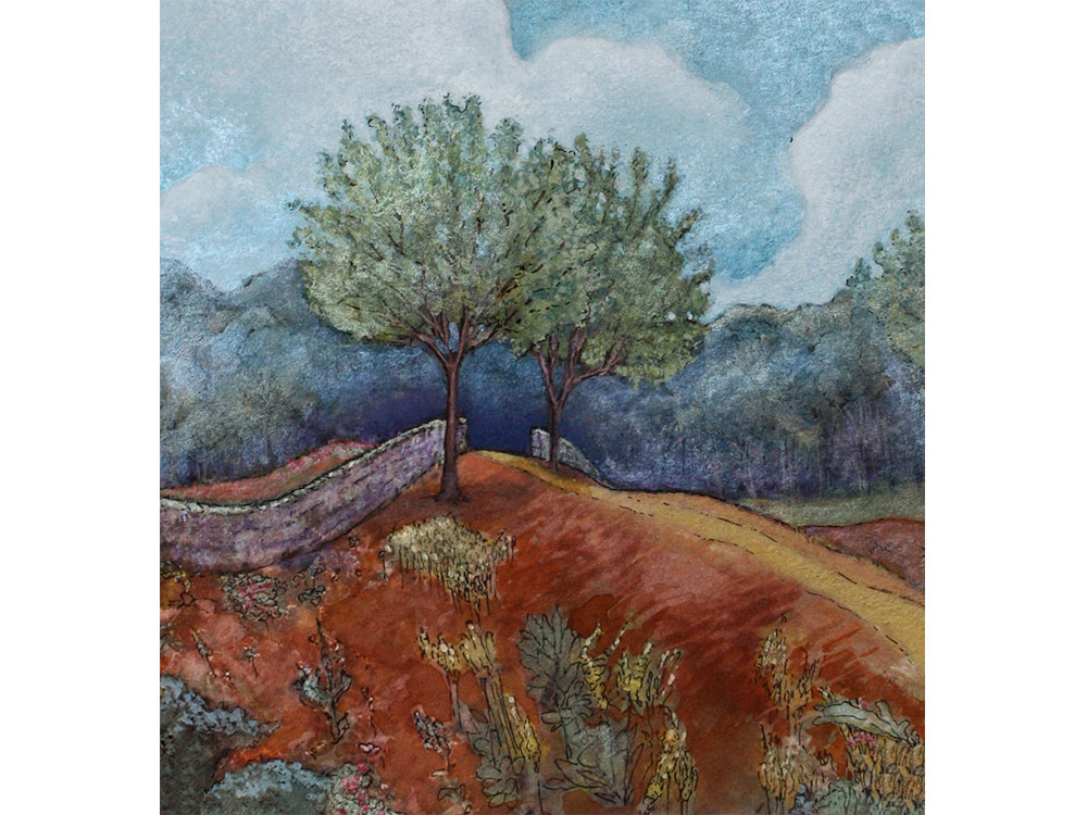 Two trees painting